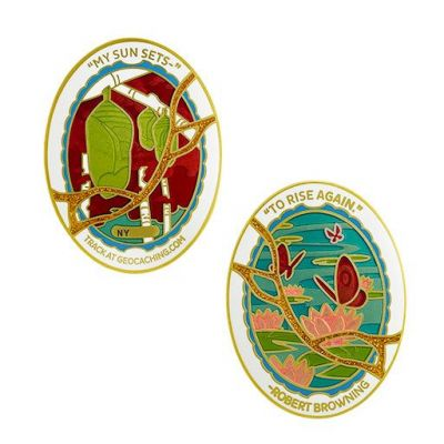 2020/2021 Last/First Geocoin + 2 Tags Set (3 TRACKABLES)