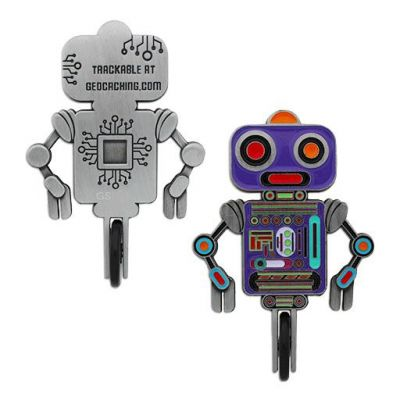Unicycle Roboter Geocoin