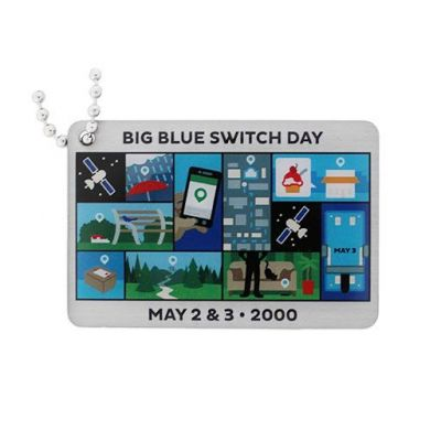 Blue Switch Travel Tag- Before and After