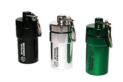 NACRO Cache Behälter -SET 3 Stück- schwarz/silber/grün