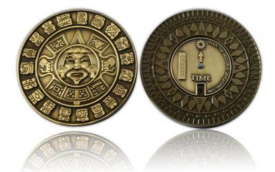 Suncompass Geocoin Antik Gold