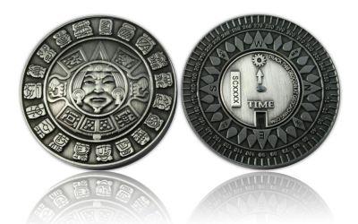 Suncompass Geocoin Antik Silber