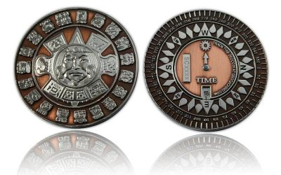 Suncompass Geocoin Antik Kupfer / Nickel