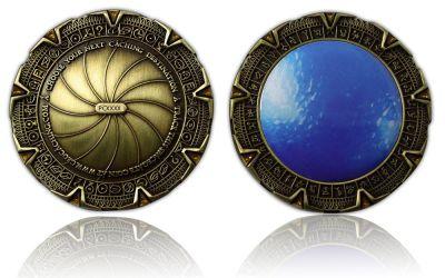 SpaceGate Geocoin Antik Bronze
