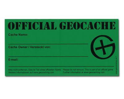 4 St?ck Grosser Geocache Aufkleber