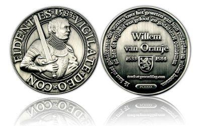 Willem van Oranje Geocoin Antik Silber