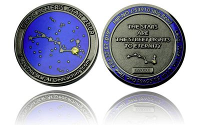 Geocacher's Star 2009 Black Nickel