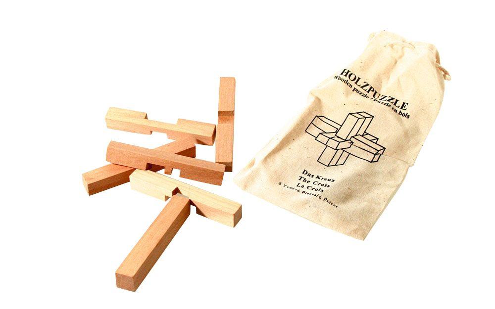 holz knobelpuzzle das kreuz. Black Bedroom Furniture Sets. Home Design Ideas
