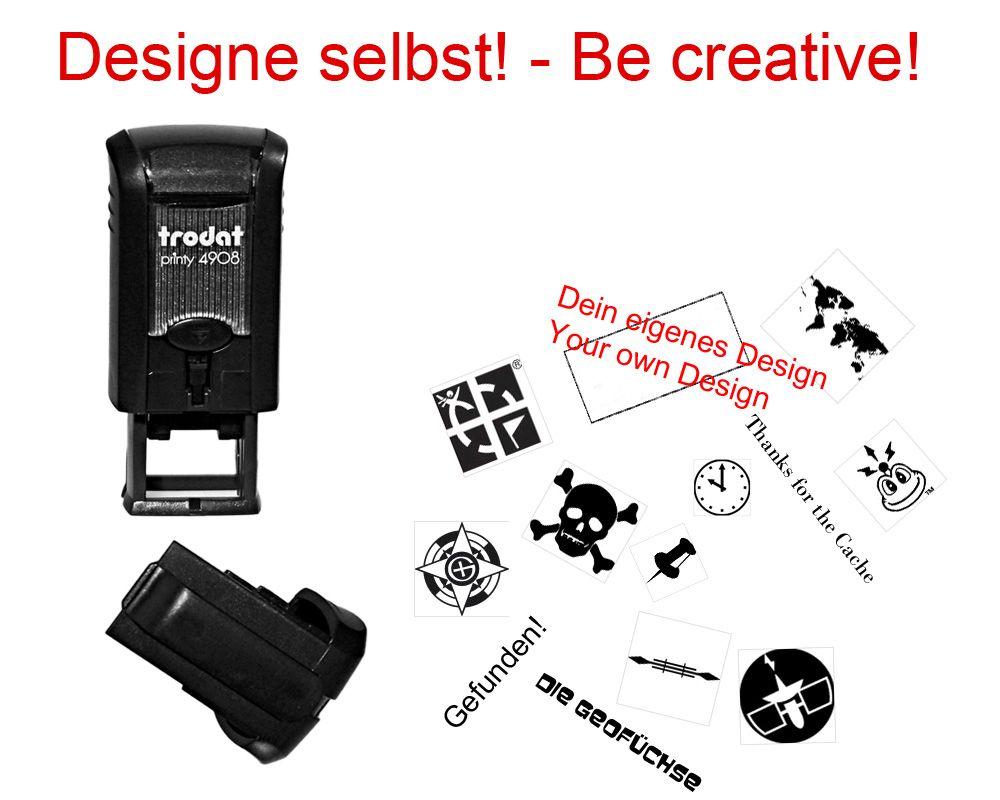 geocaching stempel mit deinem design printy mini geocaching shop. Black Bedroom Furniture Sets. Home Design Ideas