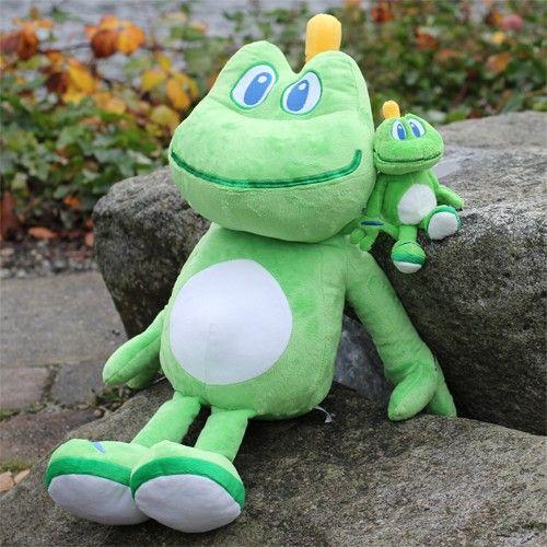 Geocaching MAskottchen Stofftier Frosch Plush Plüschtier Frog Geschenk Signal