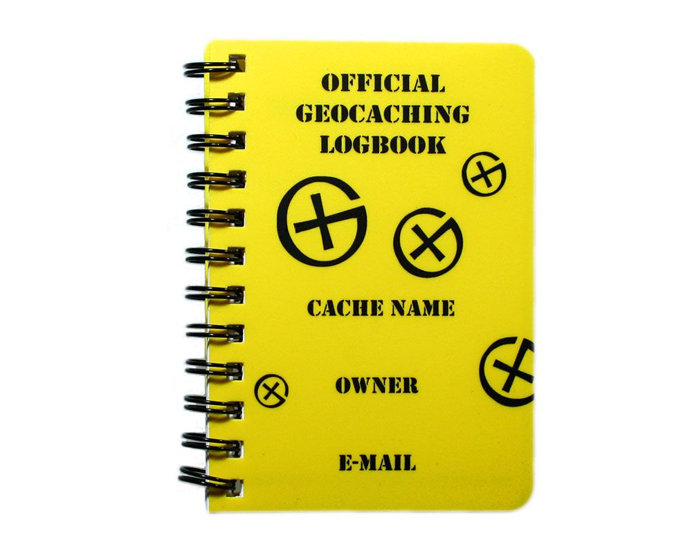 picture regarding Official Geocache Printable identify Geocaching Logbook A7 yellow
