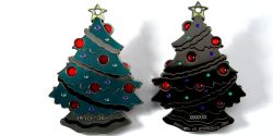 Christmas Tree Geocoin Black Nickel