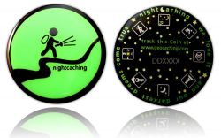 Darkest Dreams Geocoin - Green Night