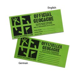 2  pc. Small Groundspeak Cache Sticker -deutsch-