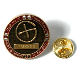 Track Me Anstecker (Bronze)