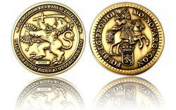 Dutch Rider Geocoin Antik Gold