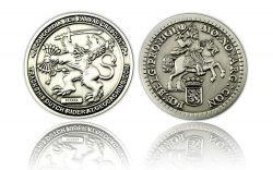 Dutch Rider Geocoin Antik Silber