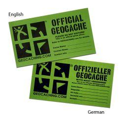 2 Stück Mittelgroße Groundspeak Geocaching Aufkleber -deutsch-