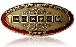 1 Million Geocache Geocoin Antik Gold