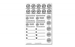 Geocaching Sticker Sheet WHITE -German-