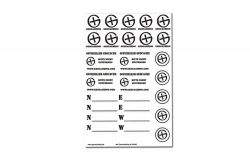 Geocaching Sticker Sheet TRANSPARENT -German-
