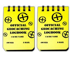 Small Geocaching Logbook A8 (2 pieces)