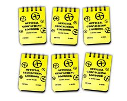 Small Geocaching Logbook A8 (SET 6pcs)