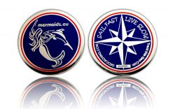Sail Fast Geocoin Dolphin Polished Silver