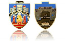 Herborn Geocoin Antique Gold