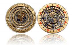 Geocaching - 10 Jahre Geocoin - Antik Gold