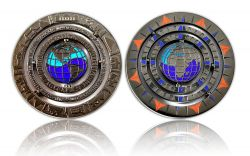 Geocaching - 10 Years Geocoin - Black Nickel