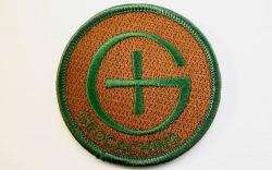 Round Geocaching Patch CAMO