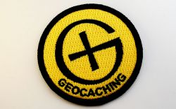 Runder Geocaching Patch GELB