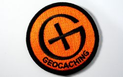 Runder Geocaching Patch ORANGE