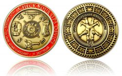 Check Your GPS Geocoin Antik Bronze