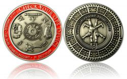 Check Your GPS Geocoin Antik Silber