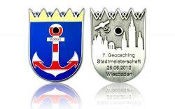Stadtmeisterschaft 2010 Geocoin Antik Silber LE