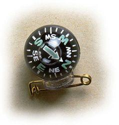 Kugelkompass Pin (zum Anstecken)