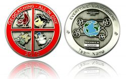 Geocaching - All In One 2010 Antique Silver -WITH ENGRAVING-