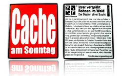 Cache am Sonntag Geocoin Black Nickel