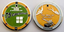 Extremcaching Geocoin 2010 Poliertes Silber GREEN LE