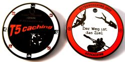 Extremcaching Geocoin 2010 Black Nickel RED LE