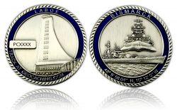 Bismarck Geocoin Antik Silber