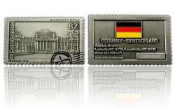 Geocacher's World Geocoin - GERMANY - Antik Silber