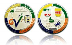 Vreden Geocoin Polished Silver