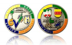 Vreden Geocoin Antique Silver