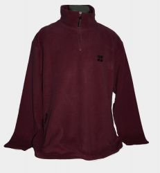 Fleece-Pullover GC.com - Weinrot -