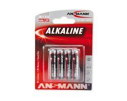 4 x Ansmann AAA (Micro) Alkaline Batterie