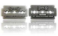 Nothing is Sharper Geocoin Antik Silber