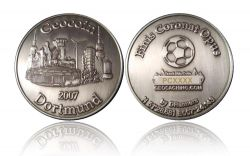 Dortmund Geocoin Antique Silver